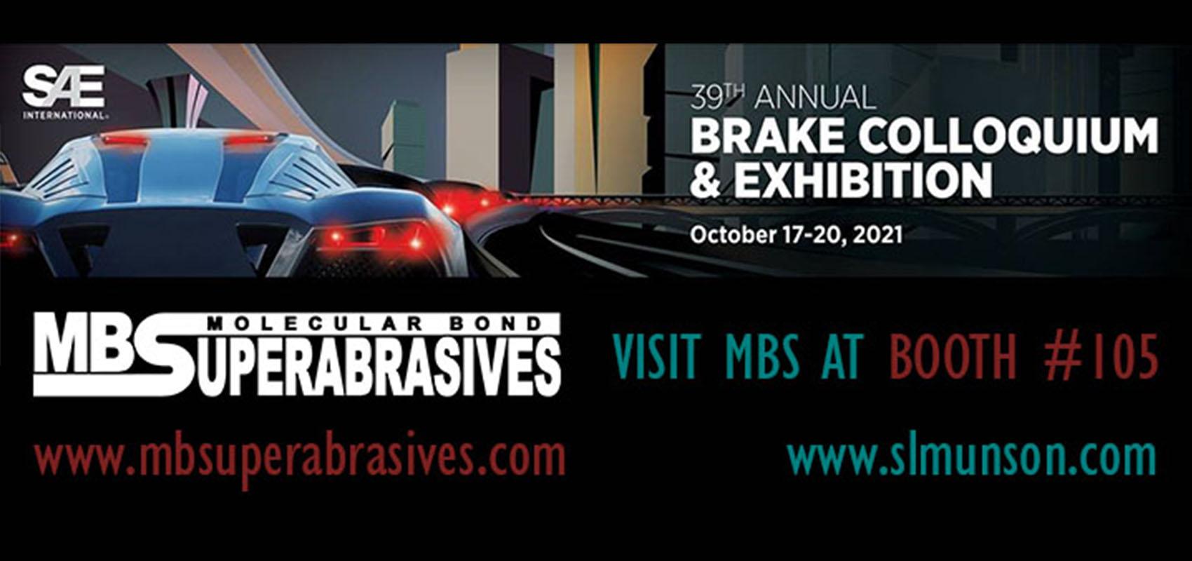 SAE Brake Colloquium MB Superabrasives